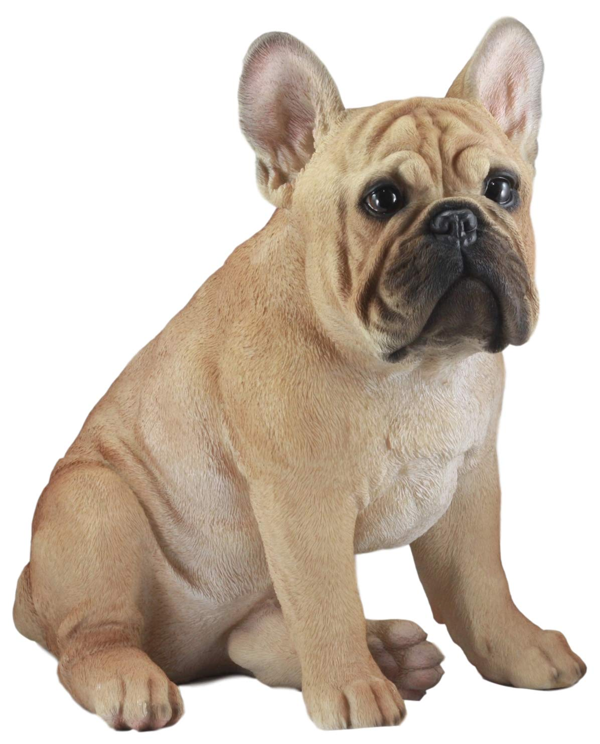 Ebros Large Lifelike Realistic French Bulldog Statue With Glass Eyes 1575 Tall Frenchie Figurine