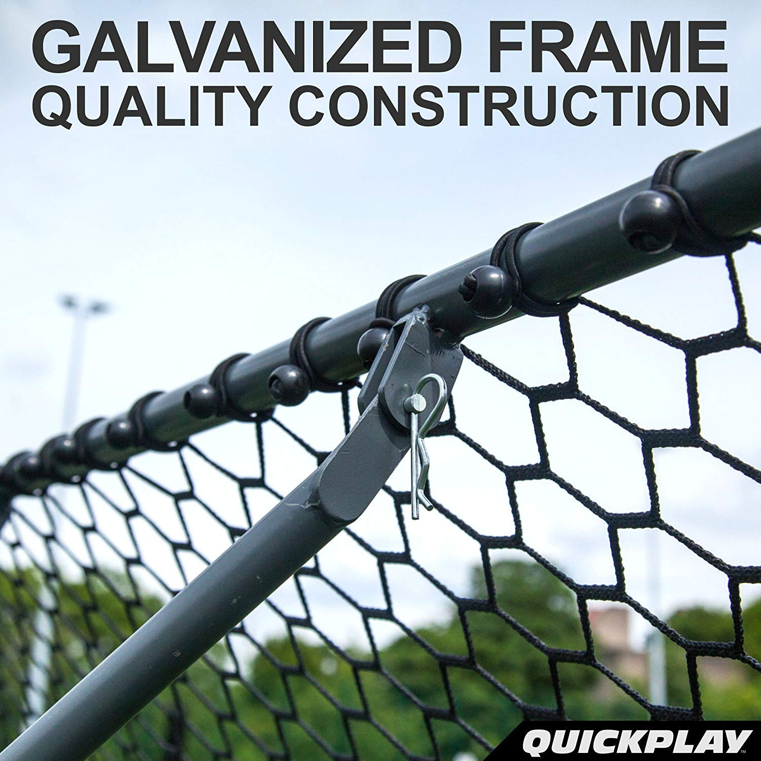 QUICKPLAY PRO Rebounder - Pitch Back Baseball, Soccer Rebounder ...
