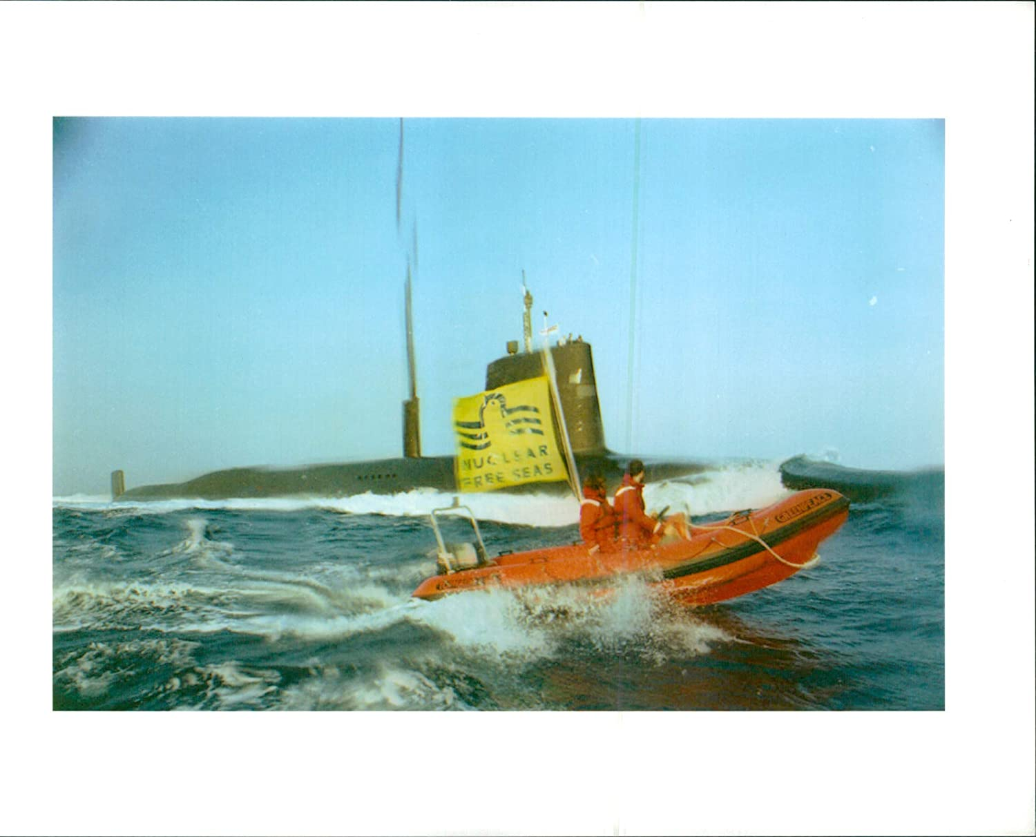 Fotomax Vintage Photo of Vanguard Sub:protesters from The Action Group Greenpeace.