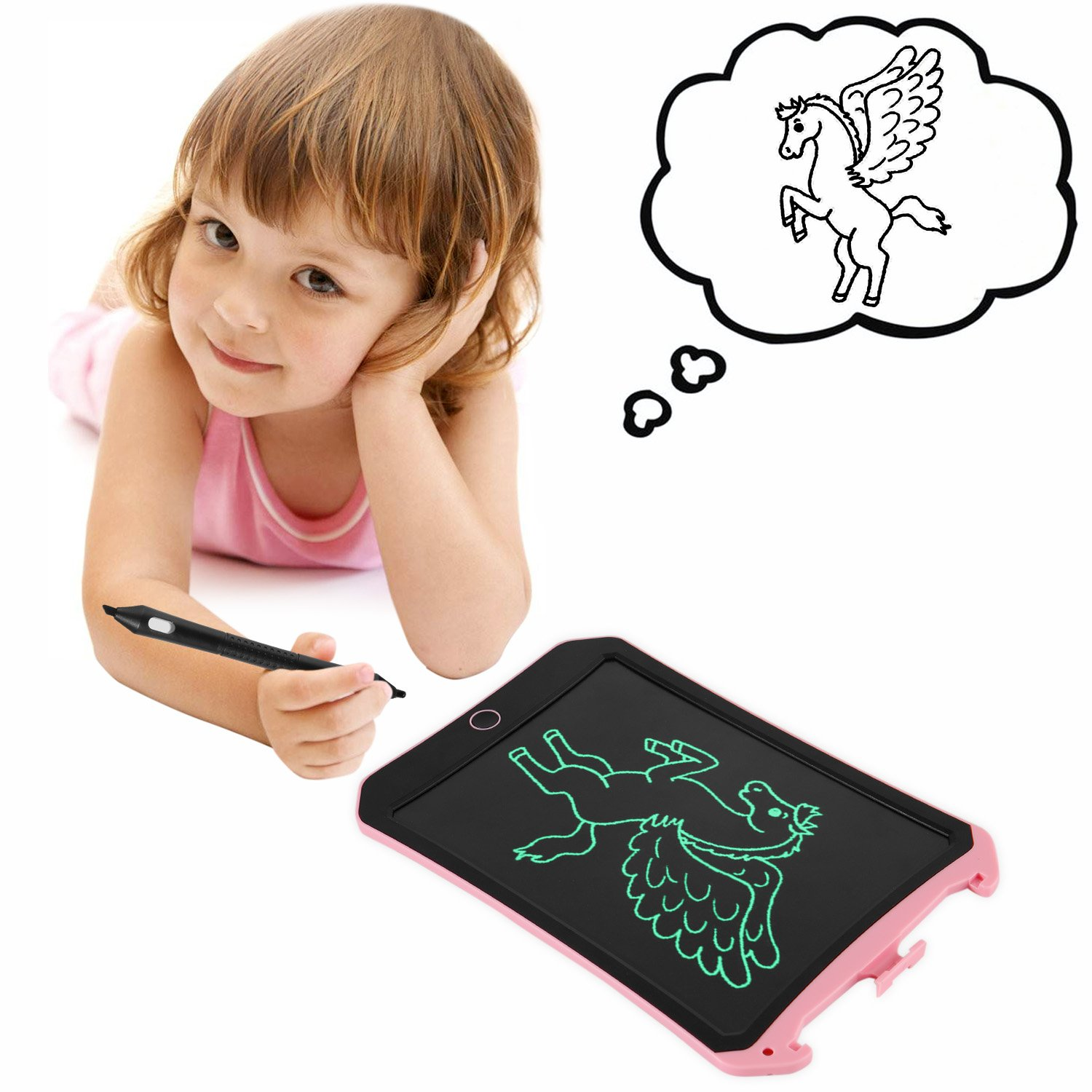 ILINKMUCH Newest 8.5-inch LCD Writing Tablet with Cool Robot Element Design Electronic Writing Board for Kid and Adults Happy Drawing and Working Saving Papers