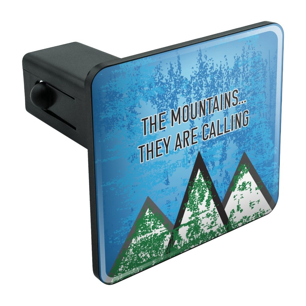 The Mountains They are Calling Hiking Nature Tow Trailer Hitch Cover Plug Insert 2