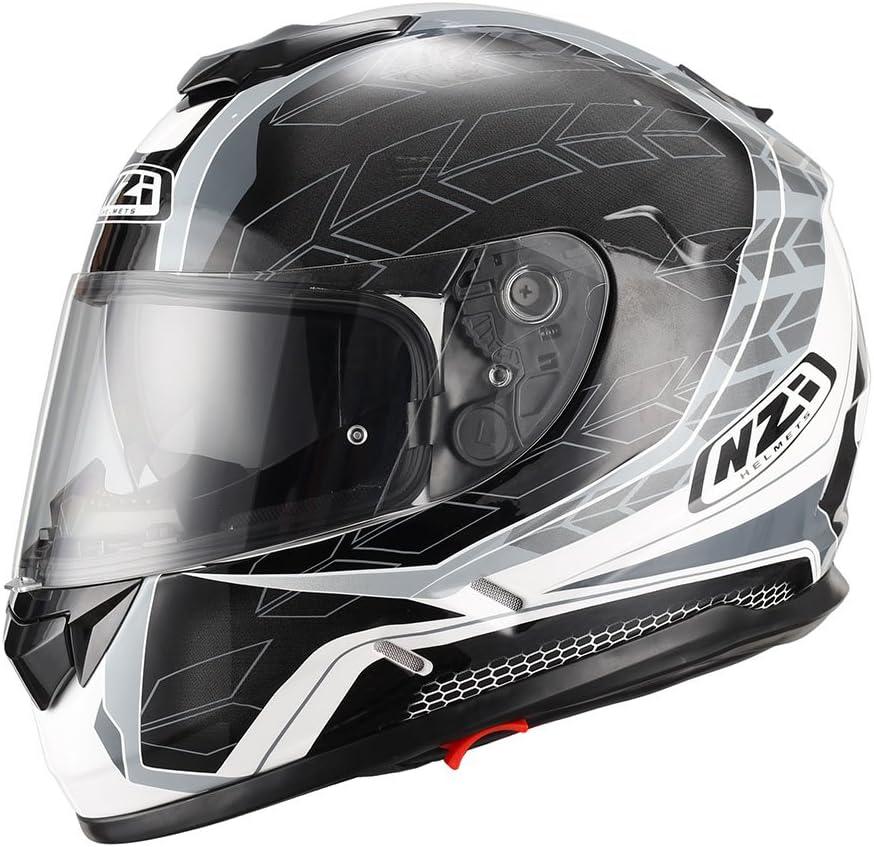 Amazon.es: NZI Casco de moto integral Symbio Duo Graphics Dart Grey M