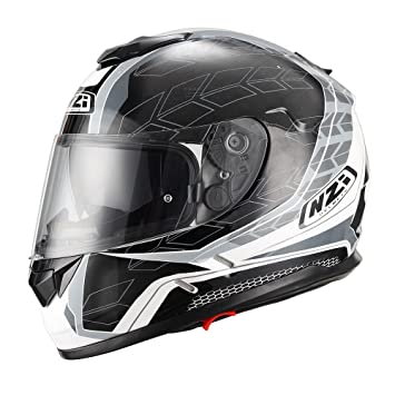 NZI Casco de moto integral Symbio Duo Graphics Dart Grey M