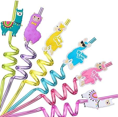 Llama Party Straws