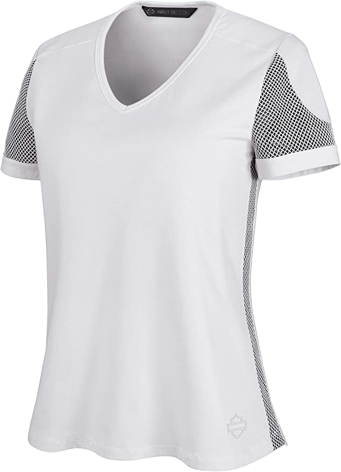 Harley-Davidson Camiseta de malla 3D para mujer, color ...
