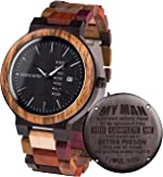 Engraved Wooden Watches Customized Personalized Wood Watches for Boyfriend My Man
