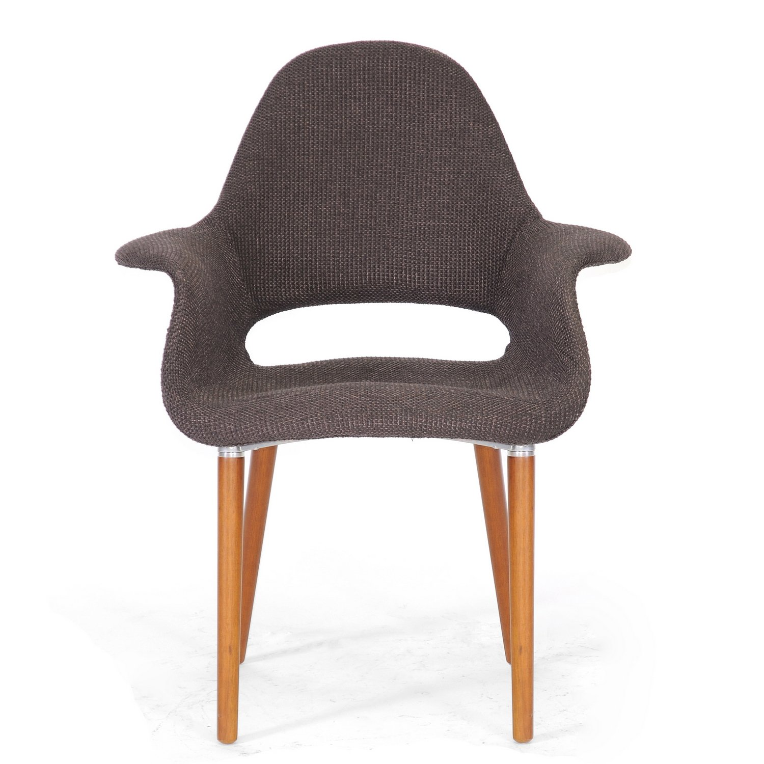 Amazon.com   Baxton Studio Forza Fabric Mid Century Modern Arm Chair, Dark  Brown, Set Of 2   Chairs