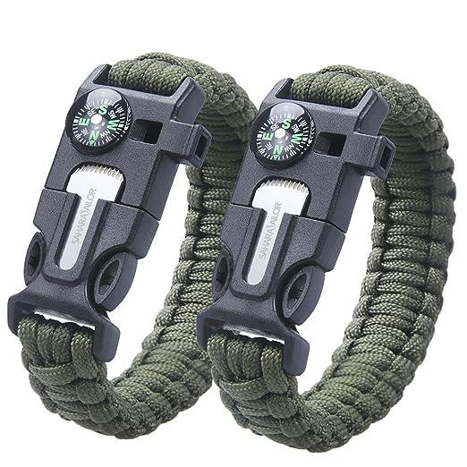 115 opinioni per [2 Pack ] Bracciali di sopravvivenza in paracord , Sahara Sailor bracciale