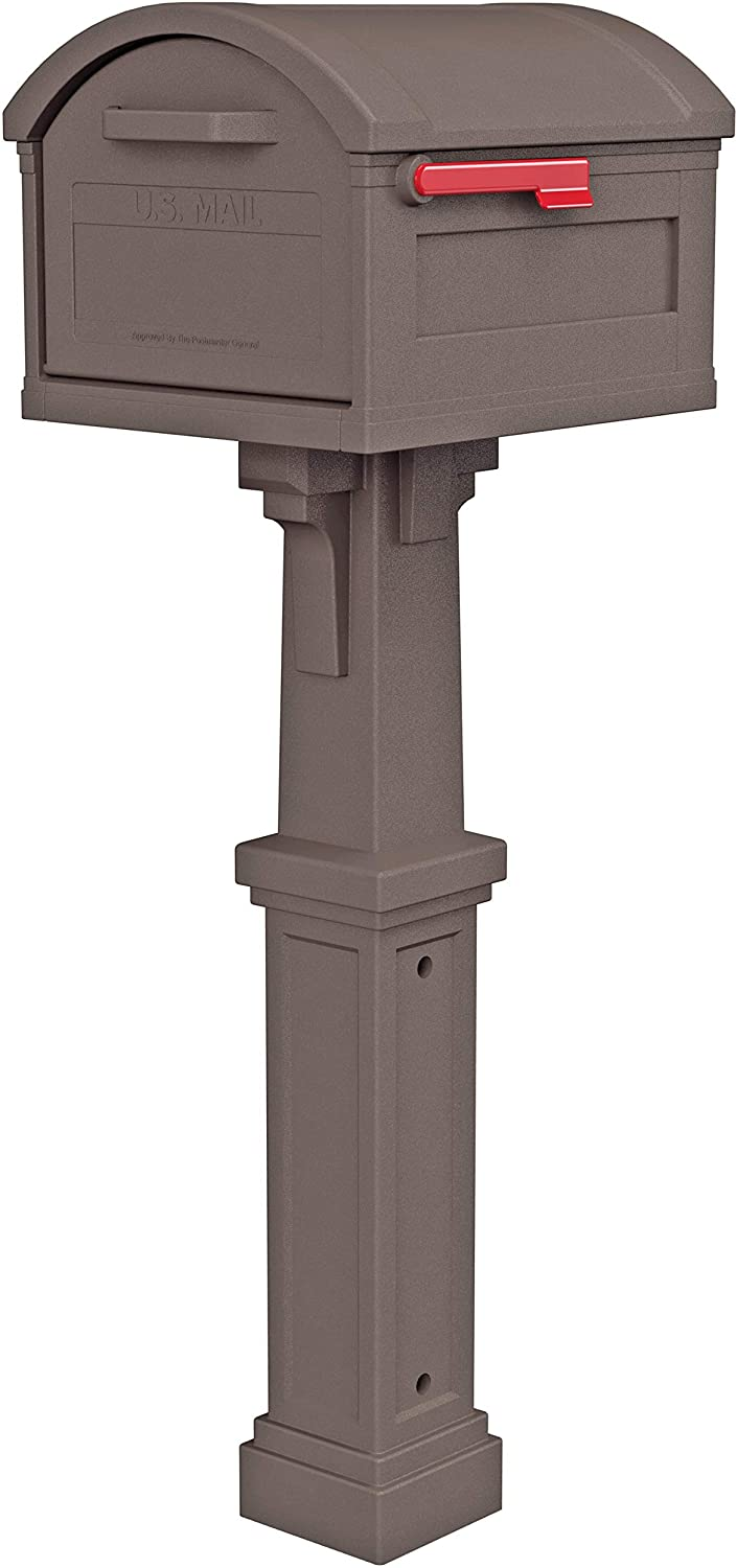 Gibraltar Mailboxes GHC40M01 Grand Haven Decorative Package Mailbox, Extra Large, Mocha