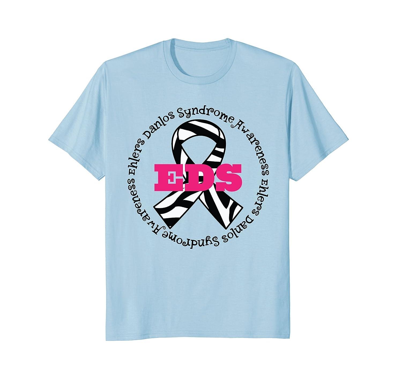 Ehlers Danlos Syndrome EDS Awareness T-shirt Zebra Ribbon-AZP