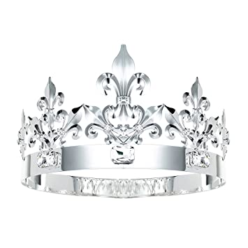 Amazoncom Dczerong King Crown Queen Crowns Crystal Metal Crown