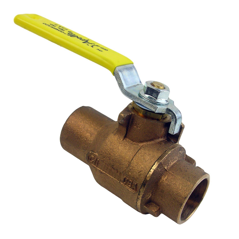 LASCO 06-1689 Lead Free Copper Sweat Brass Ball Valve, Made in USA, 2-inch