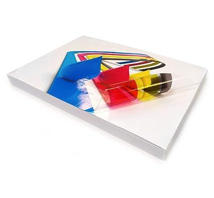 5 hojas A4 de vinilo transparente brillante autoadhesivo de ...
