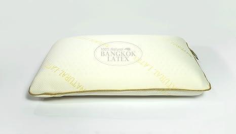 Standard King – 100% látex natural almohada de espuma con funda de almohada de algodón
