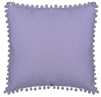 Urban Loft by Westex Pompom Lavender Polyester Filled Decorative Throw Pillow Cushion 18
