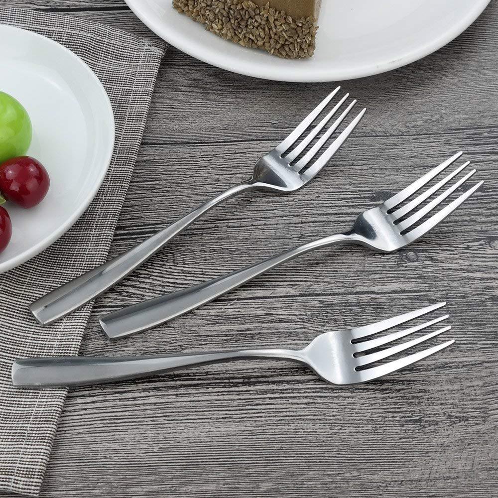Indian Crafts Idea Stainless Steel Dinner forks Convenience for travel,6pcs Fork Windsor dinner fork set Multipurpose use for home Table fork set Restaurant tableware utensil set Salad fork set