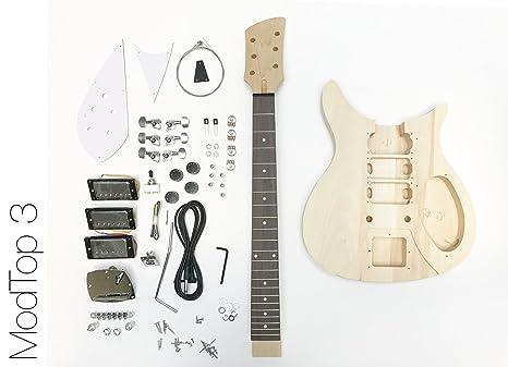 DIY Kit de guitarra eléctrica cuerpo sólido R 3HB estilo construir su propio Kit de guitarra