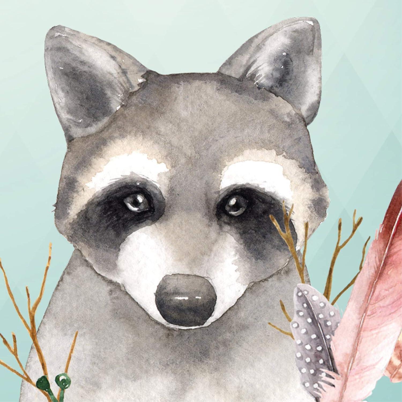 """anna wand design frise murale auto-adh/ésive motif avec animaux forestiers /""""Friendly Forest/"""" gris 450 x 11,5 cm pour chambre d/'enfants"""