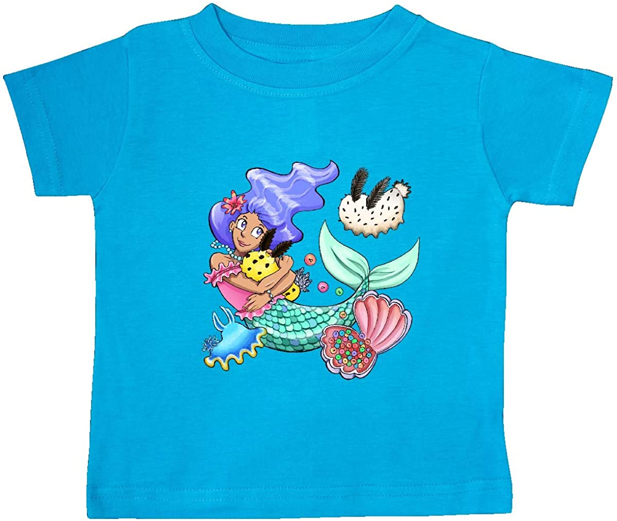 inktastic Easter Mermaid with Sea Bunnies Baby T-Shirt