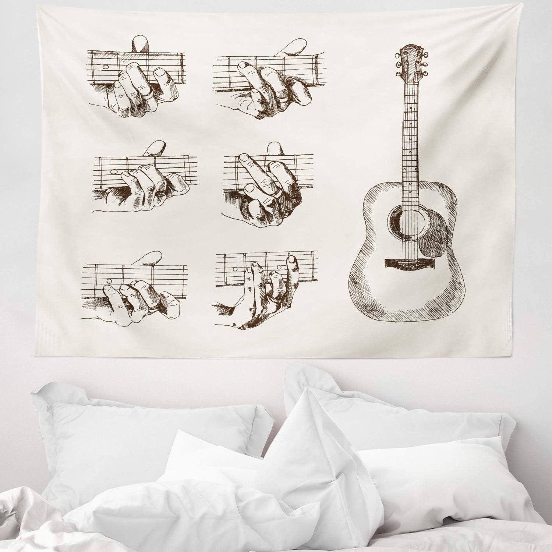 ABAKUHAUS Guitarra Tapiz de Pared y Cubrecama Suave, Boceto ...