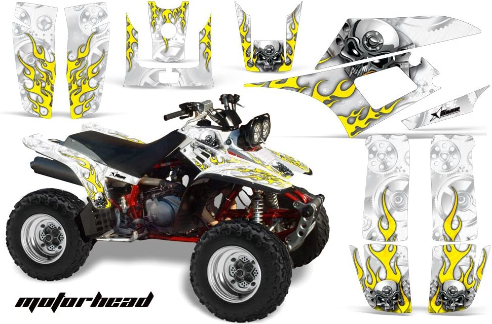 Reaper Red Wholesale Decals ATV Graphics kit Sticker Decal Compatible with Yamaha Warrior 350 All Years