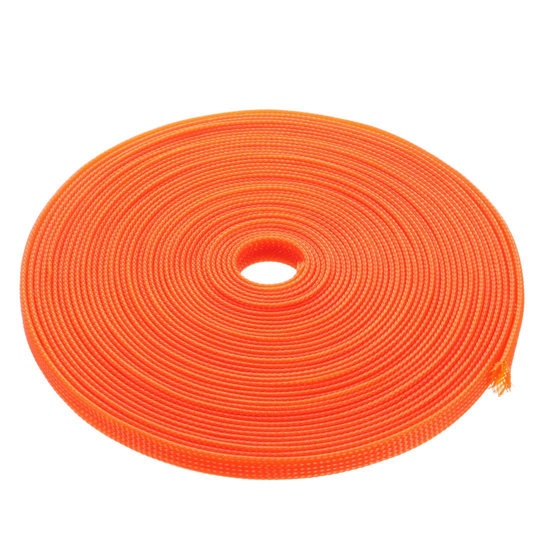 uxcell PET Braided Sleeving 32.8 Feet 10m Expandable Cable Wrap 4mm Diameter Wire Sheath Orange