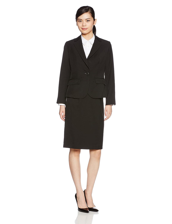(セシール) cecile スカートスーツ B0751JRG17 日本 17ABR84-(日本サイズ2L相当)|ブラック ブラック 日本 17ABR84-(日本サイズ2L相当)