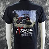 Extreme Muddin' Side by Side on a Black T Shirt - 5X