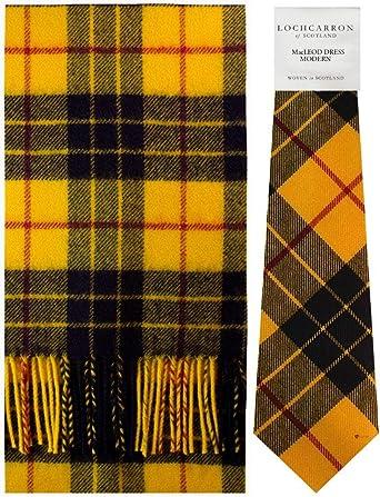 Scottish 100 /% Authentic Wool Tartan MacLeod Dress Clan Scarf New !