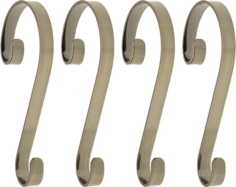 decorative bathroom hardware sets.htm amazon com haute decor stocking scrolls 4 pack stocking hanger  haute decor stocking scrolls 4 pack