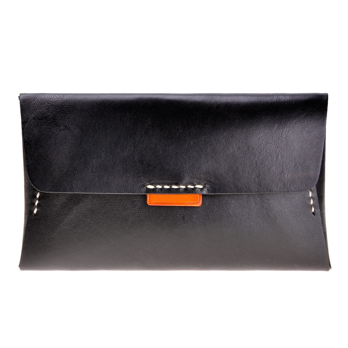 ZLYC Women Fashion Envelope Design Leather Wallet Clutch with Removable Card Holder, Black
