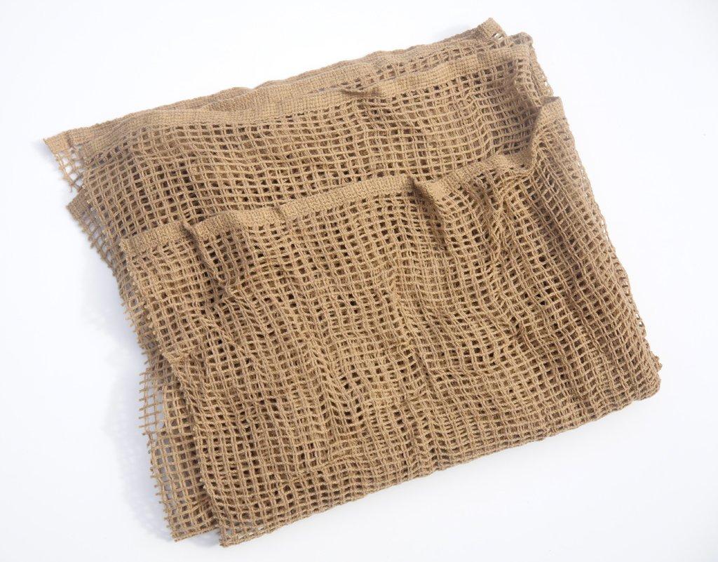 Scrim rete mimetica 100 cm x 100cm, sabbia del deserto sciarpa militare colore marrone chiaro o rete Wildlifephotographyshop
