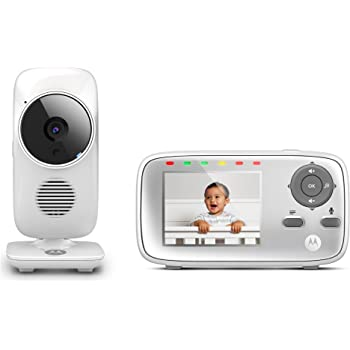 "Amazon.com : Motorola MBP483 2.8"" Video Baby Monitor with"