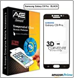 Annant Entp™ Premium Full Screen Edge To Edge Coverage 2.5D Curved HD+ Tempered Glass Screen Guard Protector For Samsung Galaxy C9 Pro - (Black Edition)