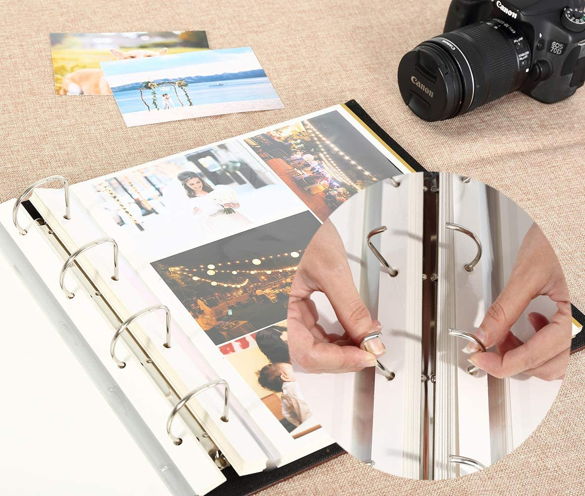 30sheets//60pages Lanpn Refillable Pages for Sticky Photo Album Self Adhesive