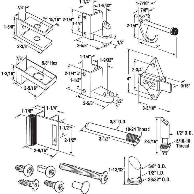 Sentry Supply 656 3111 Door Kit 78 In Door 1 14 In Pilaster