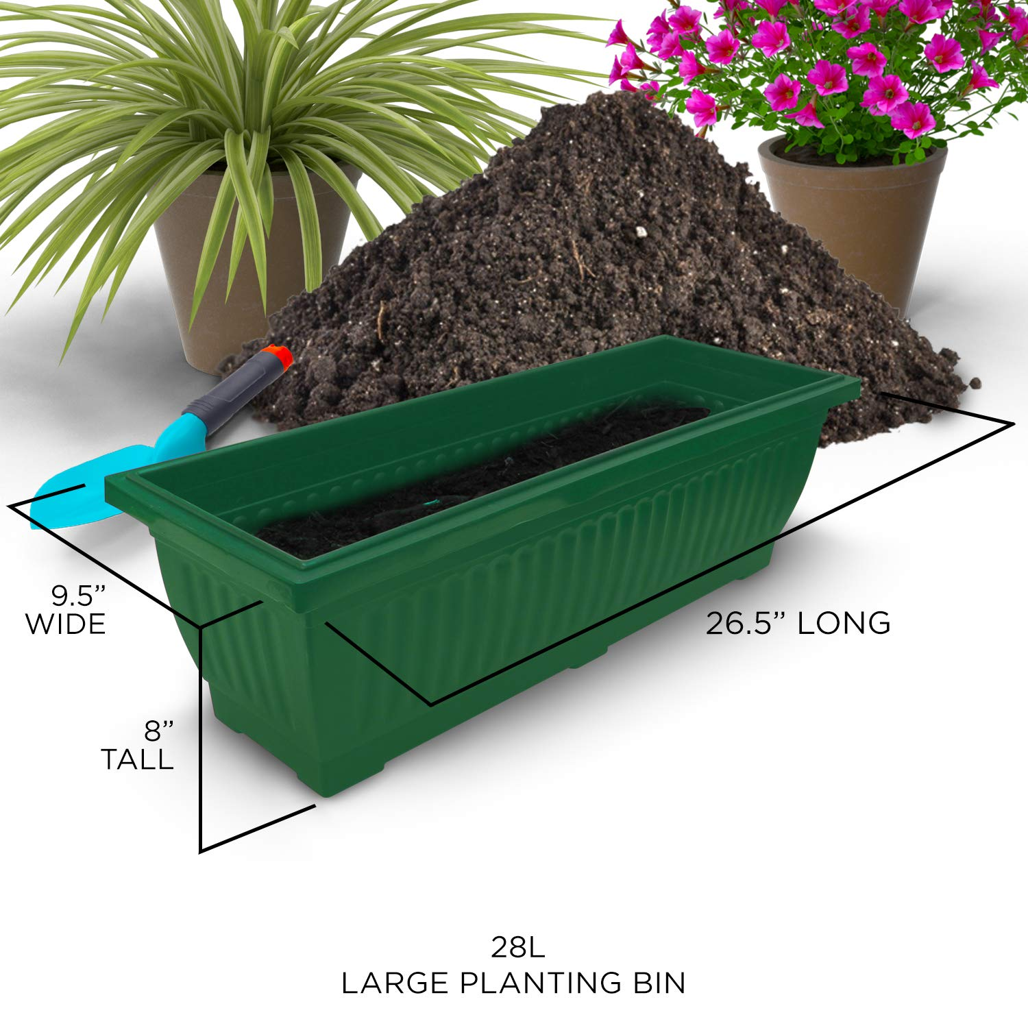 6-Ft Raised Garden Bed - Vertical Garden Freestanding Elevated Planter with 4 Container Boxes - Good for Patio or Balcony Indoor and Outdoor - Cascading Water Drainage (1-Pack/Forest Green) by Outland Living (Image #5)
