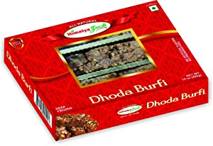 HIMALYA FRESH Dhoda Burfi 14oz - Premium Authentic Indian Food & Sweets Made With Pure Buffalo Milk - No Fillers Or Preservatives (1 Box)
