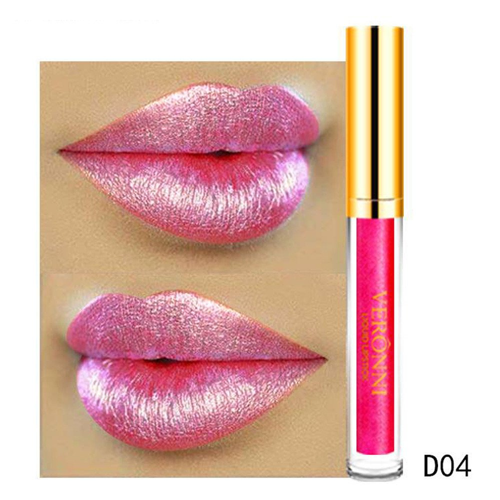 Malbaba Lipstick, 10 Color Womens Magic Glitter Flip Lipstick Flip Pull Matte Pearl Lip Gloss