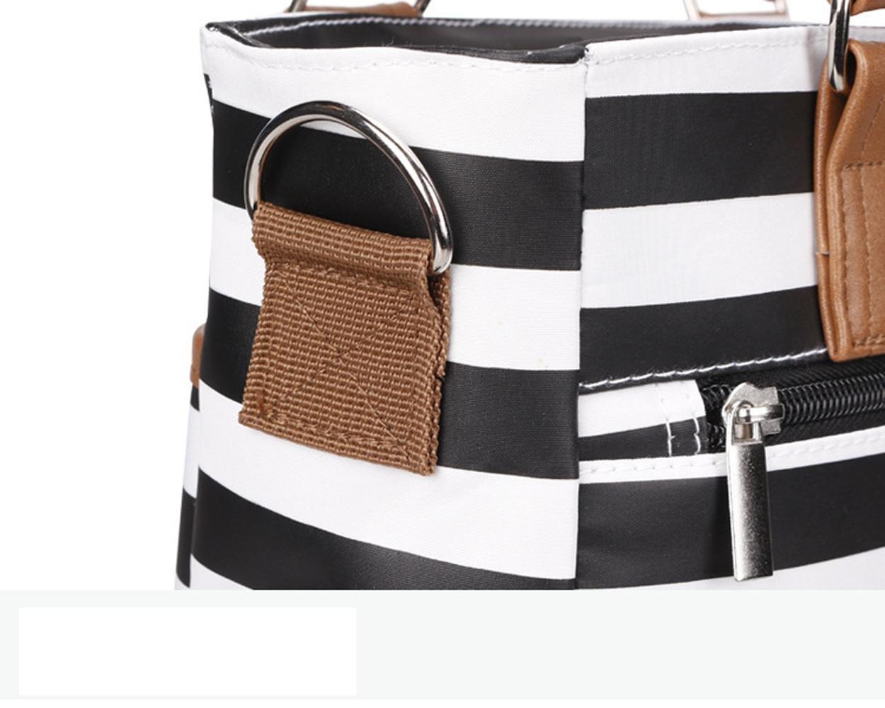 NSHK Mommy Bag Stripe Handbag Large Volumes Bag Bolso de hombro y bolsa de mensajero para bebés y madres, clásico y resistente al agua: Amazon.es: Deportes ...