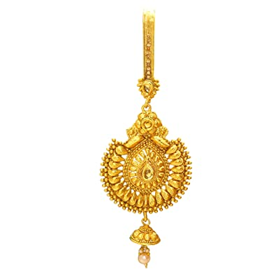 eb26ea0a6 Buy Memoir Gold plated CZ Pearl Brass Handmade Filigree Ethnic Traditional,  Saree Clip Jhumka Chabi Challa Key Chain Satka for Women Online at Low  Prices in ...