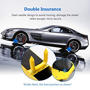 Amazon Com Heavy Duty Wheel Lock Anti Theft Towing Wheel Clamp