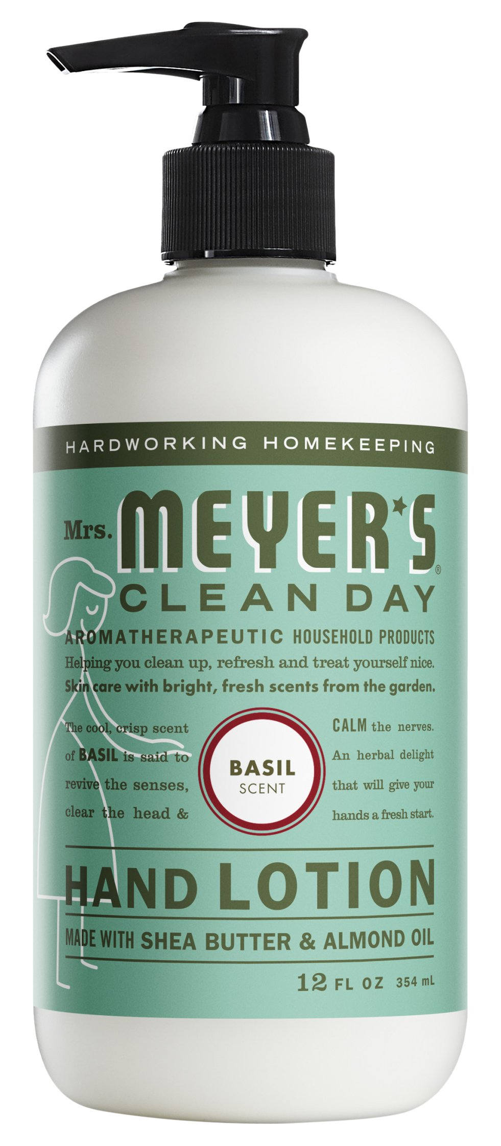 Mrs. Meyer's Clean Day Hand Lotion, Basil, 12 oz