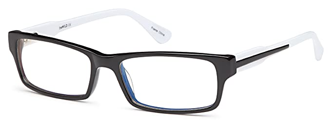 a87e88bf99ef Amazon.com  Girls Prescription Eyeglasses Frames Size 52-16-140-30 in Two  Toned in Black White  Clothing