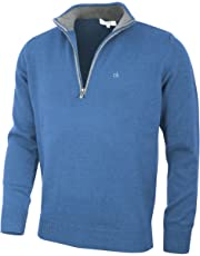 Calvin Klein Mens 2019 Chunky Cotton 1/2 Zip Sweater