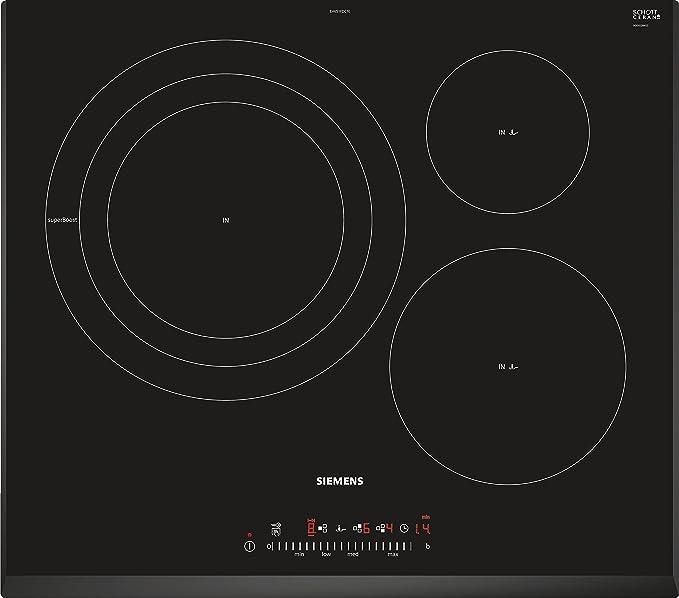 Siemens EH651FDC1E, Placa De Cocina Por Inducción, 7400 W, Negro ...
