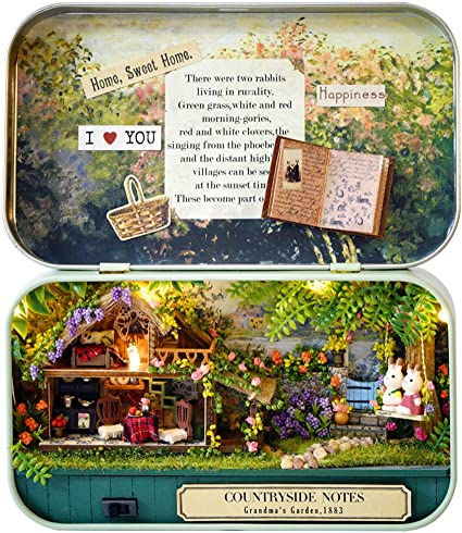 Amusement Park MAGQOO 3D Wooden Dollhouse Miniature DIY Doll House Kit with Furniture,1:24 DIY Box Theater Kit