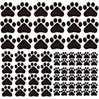 Finduat 66 Pcs Dog Paw Prints Sticker Dog Paws Wall Decals Vinyl Pawprints Sticker Decoration for Children Nursery Room Home Decor Art Mural Diy