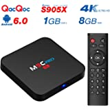 QacQoc M9C Pro Android TV Box Android 6.0 4K New Amlogic S905X Chipset-Quad Core [1G/8G] Ultra-Fast Running Speed 2.4G WIFI Smart TV Box Set Top Box