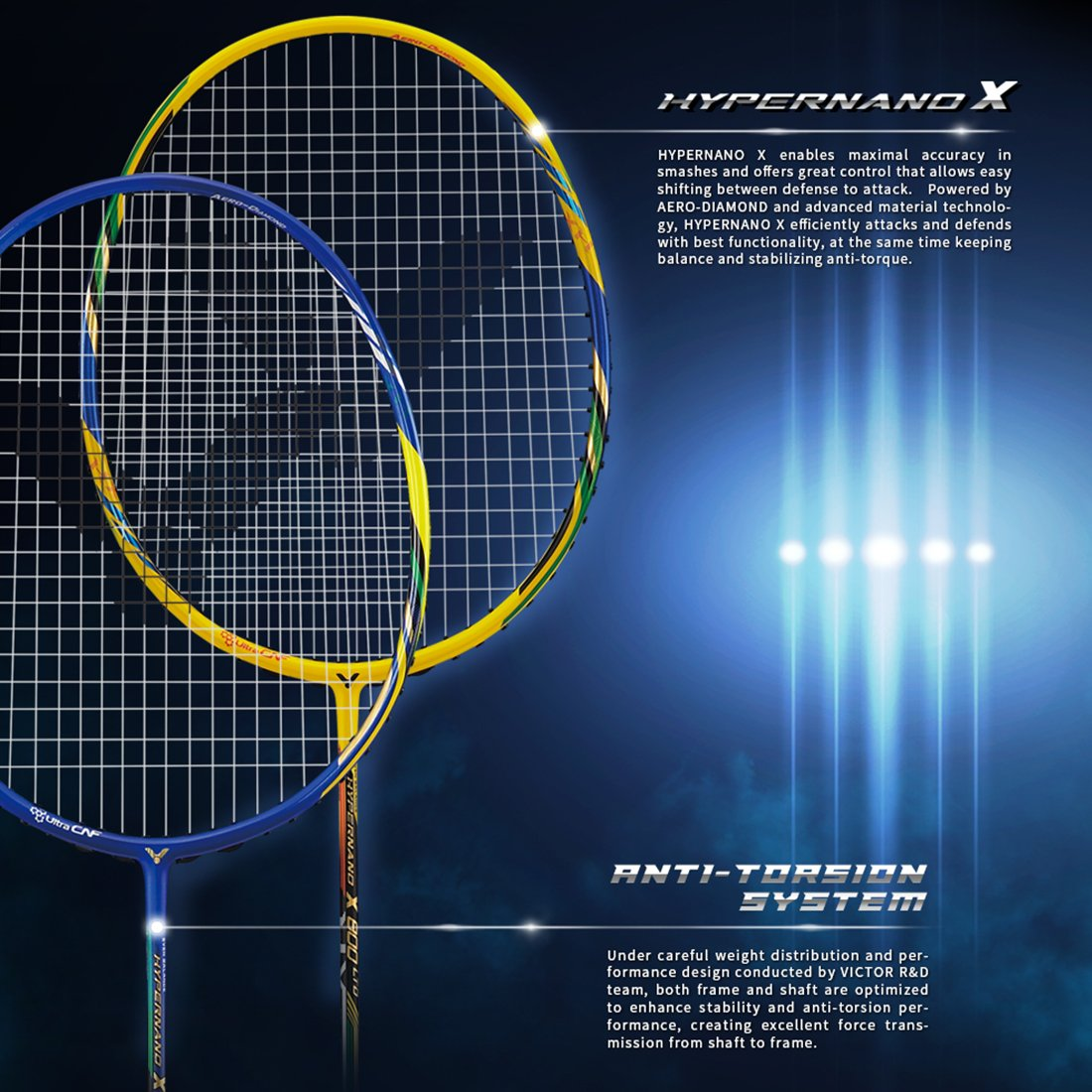 b7646d37433 Buy Victor Hypernano X 800LTD Power G5 Unstrung Badminton Racket (Royal  Blue Black) Online at Low Prices in India - Amazon.in